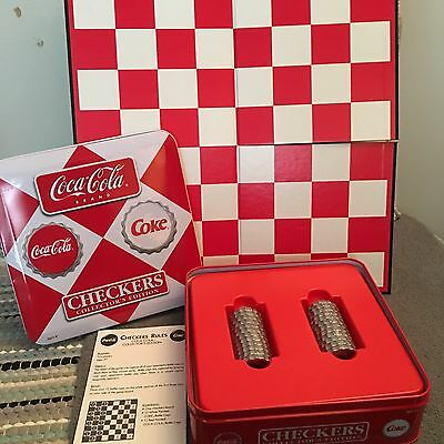Coca-Cola Collector's Edition Checkers Game With Tin