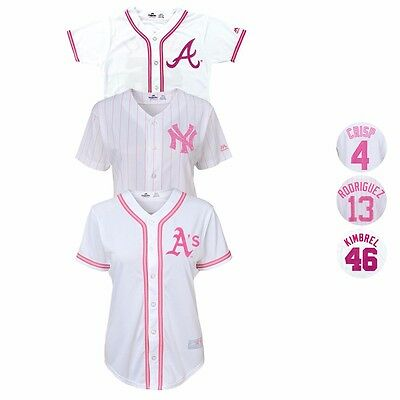 MLB Majestic Glitter Fashion Jersey Collection Girl's Size (7-16)