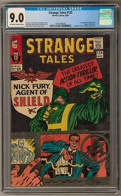 Strange Tales #135 CGC 9.0 (OW-W) 1st Nick Fury Agent of Shield Appearance