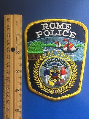 Rome Wisconsin  Police  Shoulder Patch