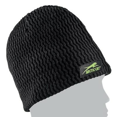 Arctic Cat Adult Fleece Lined Aircat Wave Winter Beanie Hat - Black - 5263-064