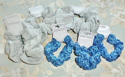 12 Lot Nice Vintage Unused Old Stock Hair Ponytail Scrunchies  Finishing Touches