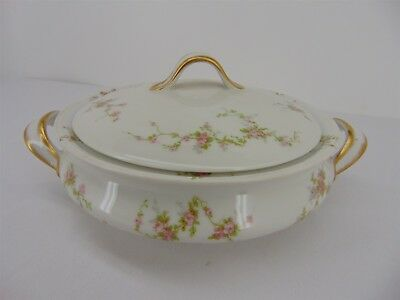 "THEODORE Haviland Limoges France 8"" Round Vegetable Covered Serving Dish"