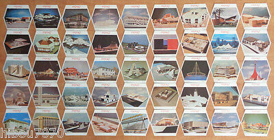 Expo 67 Montreal Complete Set 45/45  Beer Coasters Molson