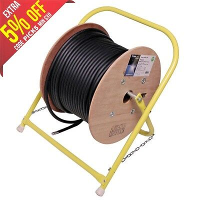 OZSTOCK Portable Foldable Cable Reeler Steel Stand for drum roller cable