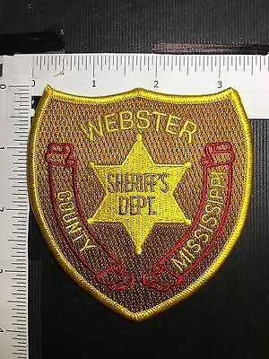 Webster County Mississippi Sheriff  Shoulder  Patch