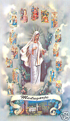 Santino Holy Card Tela Canvas Madonna Di Medjugorie N 1