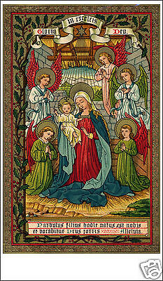 Santino Holy Card Tela Canvas Gloria In Excelcis Deo