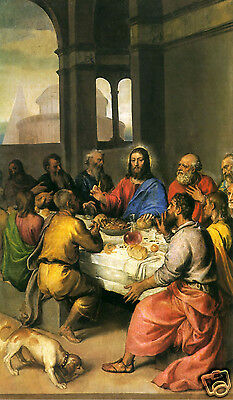 Santino Holy Card Tela Canvas The Last Supper