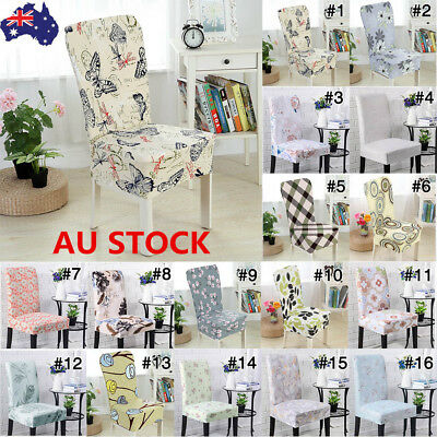 Stretch Elastic Chair Cover Seat Covers Dining Room Wedding Banquet Removable