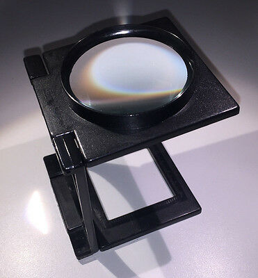 Toolzone Folding Stand Magnifier, ideal for neg / slide viewing, 65mm glass lens