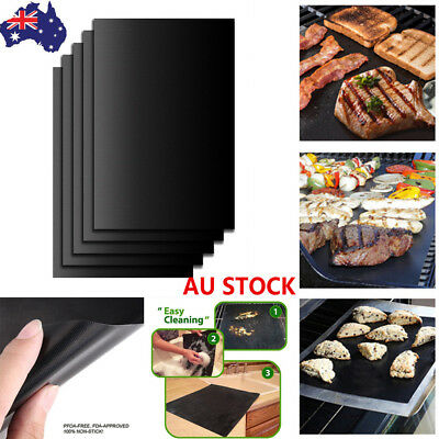 1/2/3/5PCS Reusable Non-stick Surface BBQ Grill Mat Baking Grilling Barbecue Pad