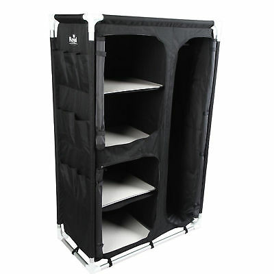 Royal Camping Wardrobe With Storage Bag 4 Shelf Shelves Hanger