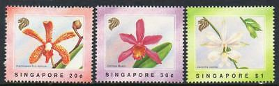 SINGAPORE MNH 1991 Orchids Set