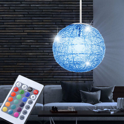 rgb led pendel lampe fernbedienung ess zimmer decken h nge leuchte dimmbar eek a eur 64 90. Black Bedroom Furniture Sets. Home Design Ideas