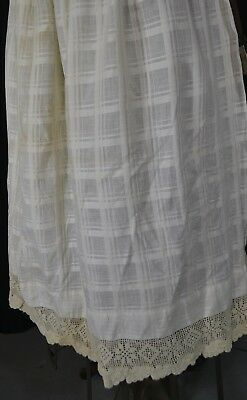 apron long half white cotton Civil War Era fancy bottom reenactment antique