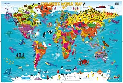 COLLINS CHILDRENS WORLD MAP NEW EDITION, Collins Maps, Evans, Ste...