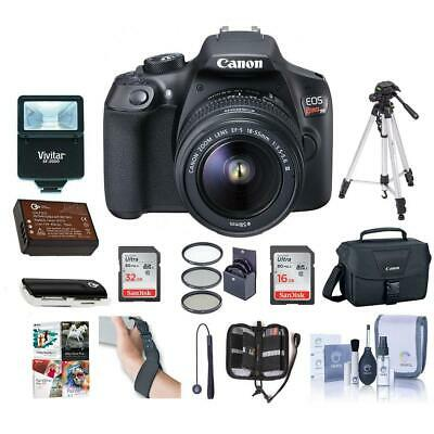 Canon EOS Rebel T6 DSLR with 18-55mm IS Lens With Premium Accessory Bundle