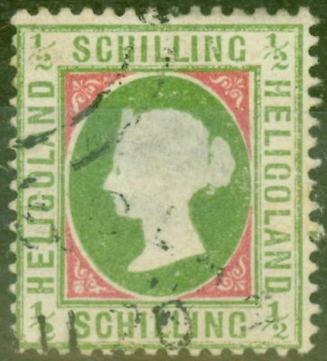Heligoland 1871 1/2sch Yellow-Green & Rose SG6 Die II P.13.5 x 14.5 Fine Used