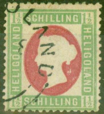 Heligoland 1873 1 1/2Sch Green & Rose SG9 Die I Fine Used Genuine in all respect