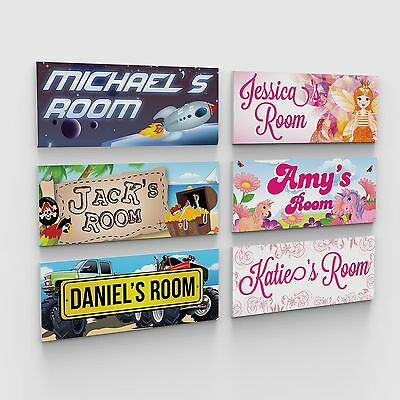Personalised Bedroom Childs Childrens Kids Door Plaques Signs Boys Girls Printed