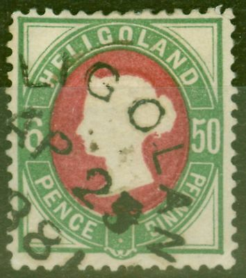 Heligoland 1875 50pf (6d) Rose & Green SG17 Fine Used