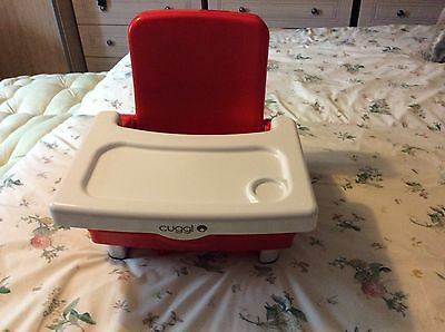 Cuggl Infant Booster Seat with Foldaway Tray (Portable high chair)