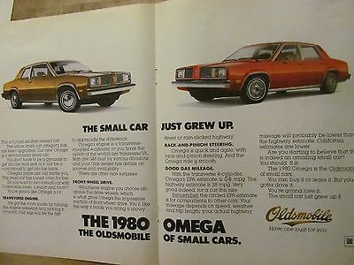 Oldsmobile Cars, 1980 Omega, Two Page Vintage Print Ad