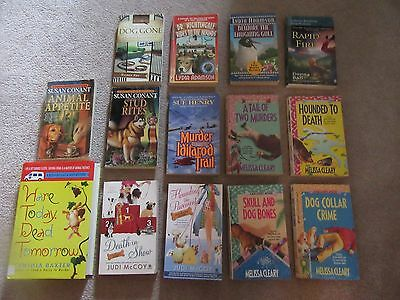 Lot of 14 Dog Lover Cozy Mystery Books Melissa Cleary all Dog Theme Mysteries