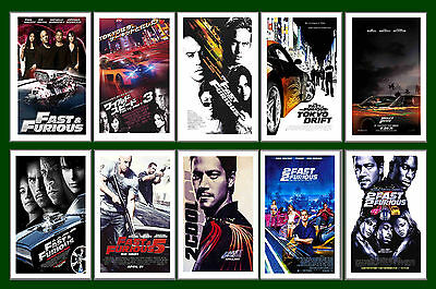 Fast And Furious Films  - Film Poster Postcard Set # 1