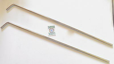 """Set Of 2 14"""" Mirror Stems, Stainless Steel.ideal For Any New Or Vintage Scooters"""