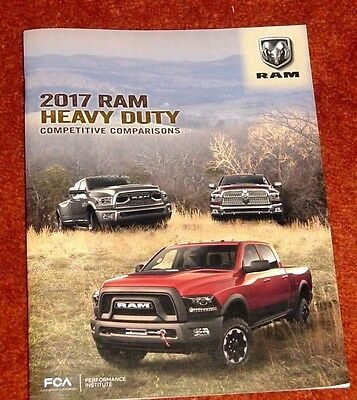 2017 Dodge Ram Heavy Duty Competitive Comparisons 58 Pg Dealer Only Brochure