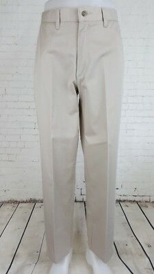 Vtg Mens Light Khaki Flat Front Preppy Tapered Wrangler Chino Trousers W33 EF05