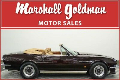 1987 Aston Martin Other  1987 Aston Martin V8 Volante Royal Cherry/ Natural TRUE 6 SPEED CAR. 7300 miles