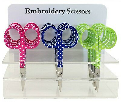 """Assorted Polka Dot Embroidery Scissors #6340-18, Sewing & Quilting Thread, 3.75"""""""