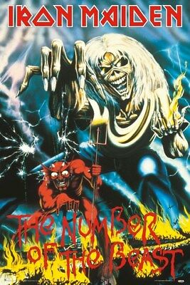 IRON MAIDEN ~ NUMBER OF THE BEAST 24x36 MUSIC POSTER Eddie Derek Riggs