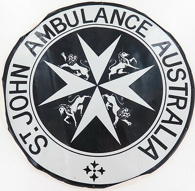 .rare / Huge / Vintage St John Ambulance Decal. 29.5Cms Diameter.