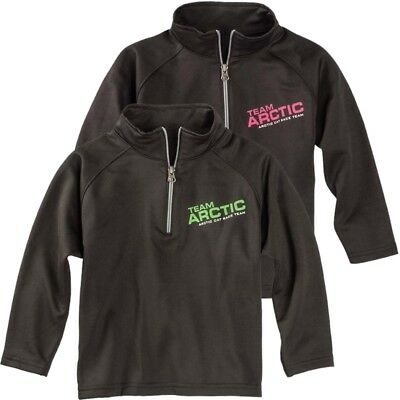 Arctic Cat Infant Toddler Race Team 1/4 Zip Polyester Sweatshirt - Green or Pink