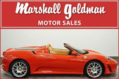 2008 Ferrari 430 Spider Convertible 2-Door 2008 Ferrari F430 Spider Rosso Corsa with Beige investment car only 331 miles