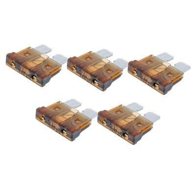 Flat plug-in fuse set 5 pcs 9,2mm 7,5a brown for scooter motorcycle universal