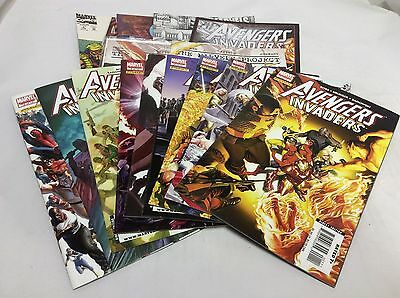 AVENGERS INVADERS #1-12 (Marvel/Ross/031525) COMIC BOOK COLLECTION LOT OF 15