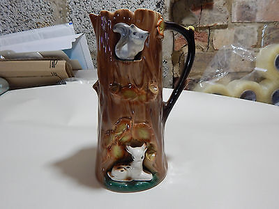 Hornsea Pottery Squirrel and Fawn Vintage Jug. Approx 8.25""