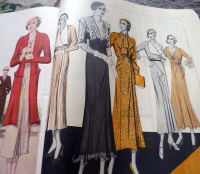 VTG 1930s PICTORIAL REVIEW MAGAZINE Paris Designers Sewing Pattern Catalog 1932