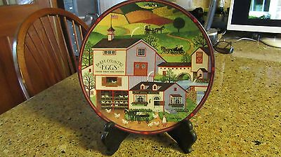 "Charles Wysocki Plate ""Virginia's Market"" Peppercricket Grove Limited Edition"