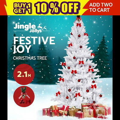 1.8M 6ft LED Christmas Tree Xmas Multi Colour Lights Optic White Balls Fiber
