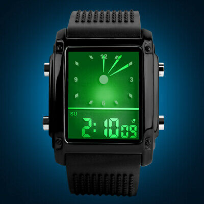 SKMEI Men's Style Sports Military Digital Analog LED Shock Quartz Wrist Watch US