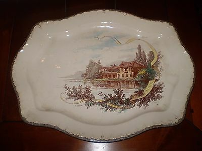 Vintage French 1920's Table,dinner Porcelain Serving Platter,stamped France