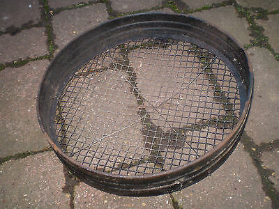 Vintage English 1930's metal garden sieve