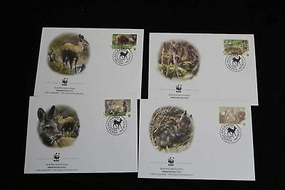 24669/ FDC Set WWF  Fauna Tiere Animals Afghanistan