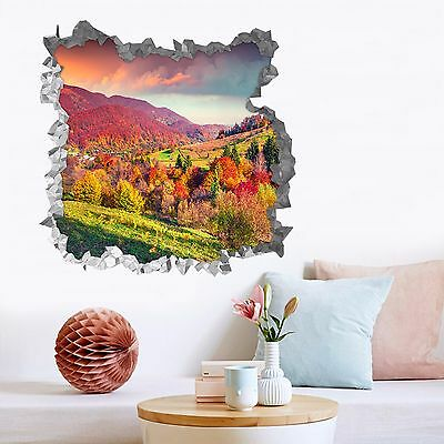 3D Color Mountain 3 Wall Murals Wall Stickers Decal Breakthrough AJ WALLPAPER AU